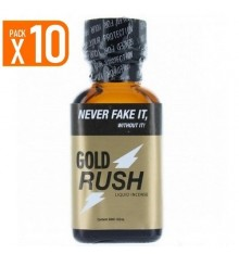 LOT DE 10 MAXI GOLD RUSH (25 ml)